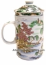 Chinese Porcelain Tea Cup (with Lid & Removable Strainer) - Landscape #14