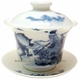 Premium Chinese Porcelain Tea Cup (with Lid & Saucer) - Longevity #4