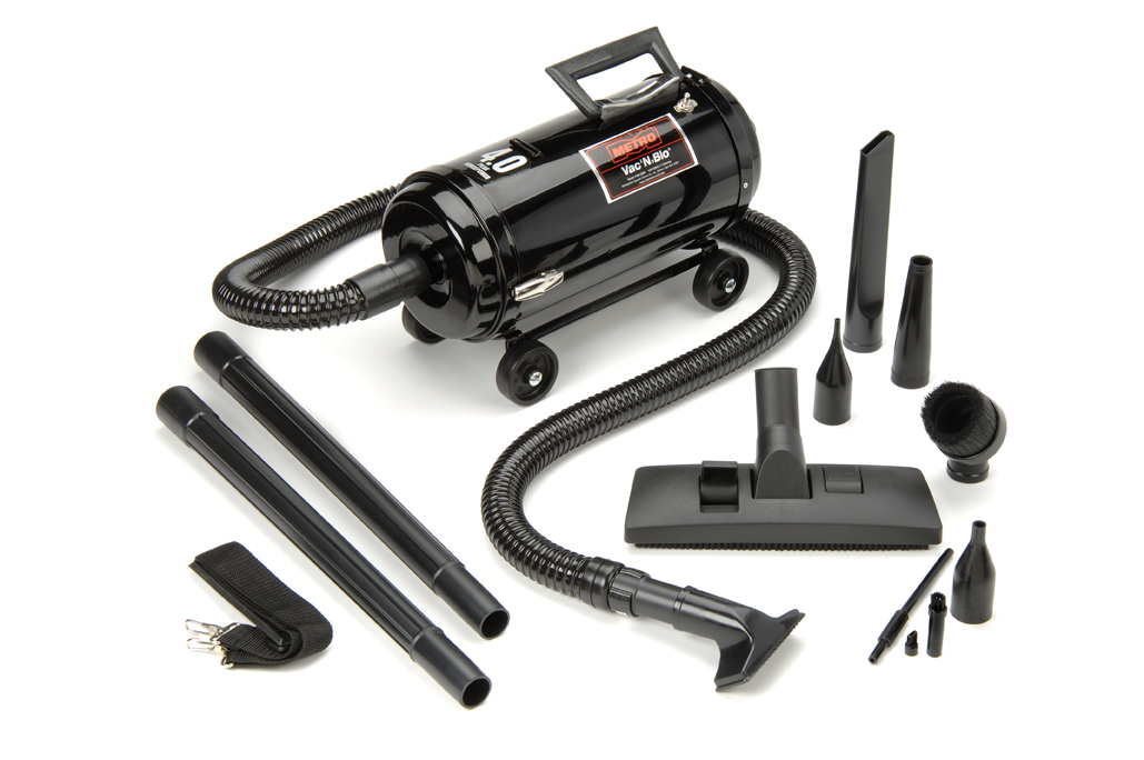metro vac n'blo® portable vacuum doubles as a powerful blower