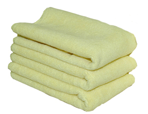 Yellow All Purpose Microfiber Towel, 16 x 16 inches