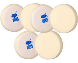 6 Pack Cyclo Premium White Foam Pad