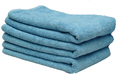 Blue All Purpose Microfiber Towels, 16 x 16 inches