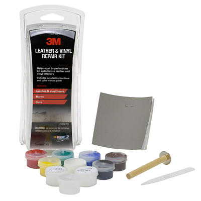 3m leather vinyl repair kit 3m 08579 repair leather tear repair vinyl seats leather repair. Black Bedroom Furniture Sets. Home Design Ideas