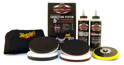 meguiars da microfiber correction system 5 inch starter kit  paint correction kit  dual action