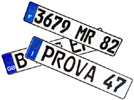 Authentic European License Plates