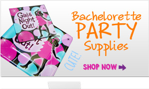We sell bachelorette party supplies for any type of bachelorette party.  From innocent to raunchy we have the bachelorette party supplies you want.
