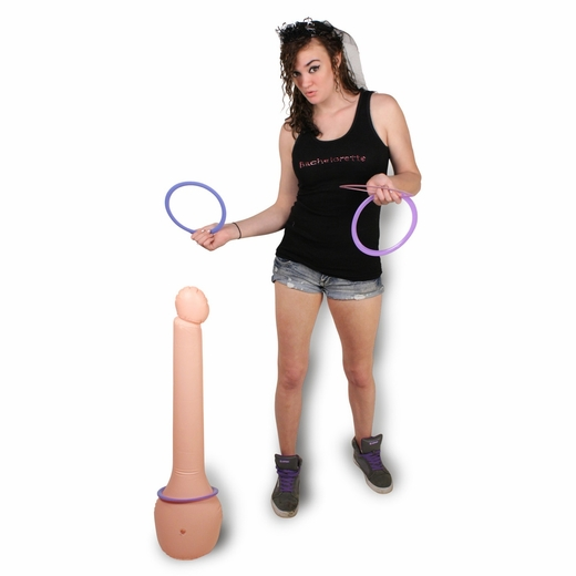 Inflatable Penis Ring Toss - Stands 3 Feet Tall