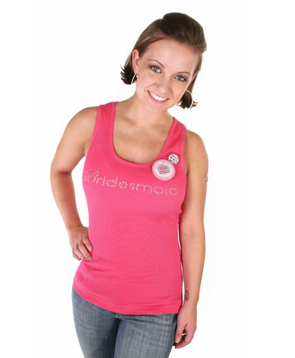 Bridesmaid Tank - Pink - Clearance!