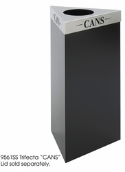 """Safco Trifecta 34""""H Waste Bin - click to enlarge"""