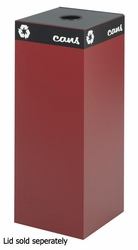 Safco Public Square Burgundy Recycling Receptacle - click to enlarge