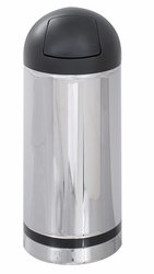 Safco Reflections Push Top Dome Receptacle - click to enlarge