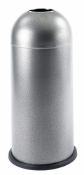 Safco Black Speckle Open Top Dome Receptacle - click to enlarge