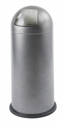 Safco Black Speckle Push Top Dome Receptacles - click to enlarge
