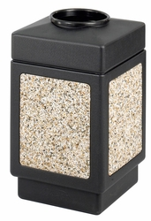 Safco Canmeleon Top Open Outdoor Receptacle - click to enlarge