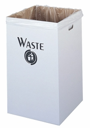 Safco White Corrugated Waste Receptacle - click to enlarge
