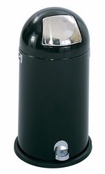 Safco Step-On Dome Receptacle - 12 Gallon Capacity - click to enlarge