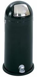 Safco Step-On Dome Receptacle with Chrome Door - click to enlarge