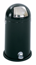 Safco Step-On Dome Receptacle with Tapered Door - click to enlarge
