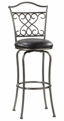 Hillsdale Wayland Swivel Bar Stool in Pewter - click to enlarge