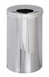 Safco Reflections Open Top Chrome Receptacle - click to enlarge