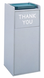 Safco Wood Food Court Receptacle - click to enlarge