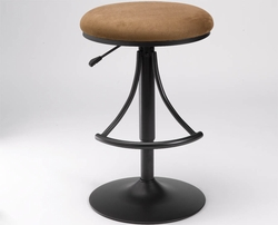 Hillsdale Venus Bar Stool with Bear Suede - click to enlarge