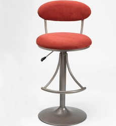 Hillsdale Venus Contemporary Swivel Bar Stool with Flame Suede - click to enlarge
