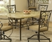 Hillsdale Brookside Rectangle Fossil Stone Dining Table - 4815DTB