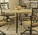 Hillsdale Brookside Dining Table with Fossil Stone Top - 4815DTRNB