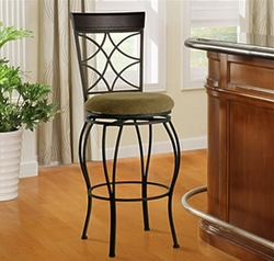 "Linon Curves 24"" Counter Stool - Metallic Brown - click to enlarge"