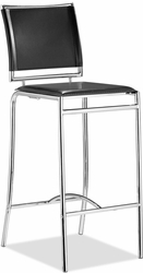 Zuo Modern Soar Leather Bar Stools with Chrome Frame - click to enlarge