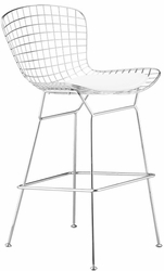 Zuo Modern Steel Wire Leather Cushion Bar Stool - Set of 2 - click to enlarge