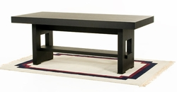 """Diamond Sofa 78"""" Rectangle Dining Table with Shelf - click to enlarge"""