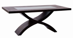 Diamond Sofa X-Shaped Base Rectangle Dining Table - click to enlarge