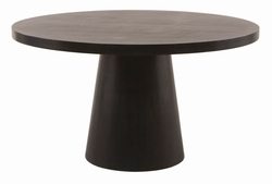 Diamond Sofa Dark Mocca Round Pedestal Dining Table - click to enlarge