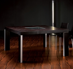 Modloft Varick Square Dining Table with Glass Inset - click to enlarge