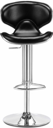 Zuo Modern Leather Upholstered Fly Bar Stool with Adjustable Frame - click to enlarge