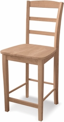 """International Concepts Madrid 30"""" Unfinished Counter Stool Ready to Assemble - click to enlarge"""