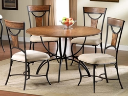 Hillsdale Pacifico Black Dining Table Set with Honey Maple Accents - 5 Pc. - click to enlarge