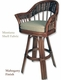 Rattan Alexander & Sheridan Bridgeport Swivel Barstool - click to enlarge