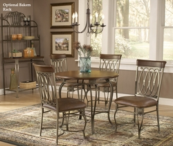 """Hillsdale Montello 36"""" Round Dining Table & Chairs 3 Pc. Set - click to enlarge"""