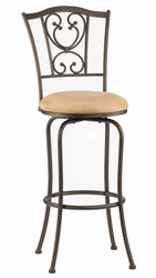 Hillsdale Concord Brown Finish Swivel Bar Stool - click to enlarge