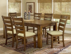 Dark Oak Hillsdale Hemstead Dining Table With Leaf - click to enlarge