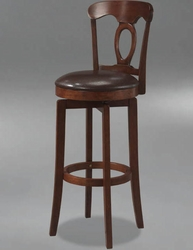 Hillsdale Corsica Swivel Bar Stool with Vinyl Seat in Brown - 4166-832 - click to enlarge