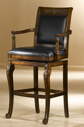 Hillsdale Douglas Distressed Cherry Wood Bar Stool with Gold Highlights - click to enlarge