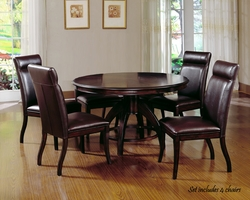 Dark Walnut Hillsdale Nottingham 5 Pc. Dining Set - click to enlarge