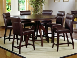 Dark Walnut Hillsdale Nottingham 7 Pc. Counter Height Dining Set - click to enlarge