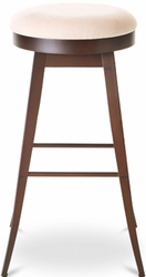 Amisco Industries Grace Metal Swivel Stool with Backless Design - click to enlarge