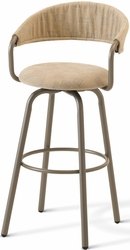 Emi Metal Amisco Industries Swivel Stool Curved Back - click to enlarge