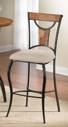 Hillsdale Pacifico Black Non-Swivel Bar Stools with Honey Maple - Set of 2 - click to enlarge